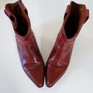 Vintsge Nine West Red Leather Boots